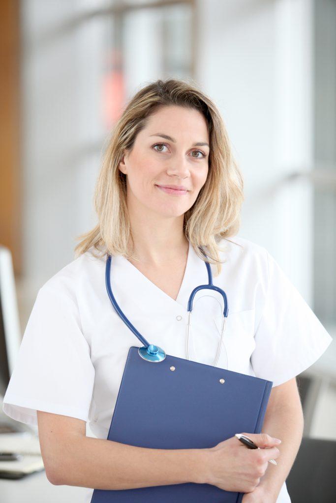 Portrait of beautiful smiling nurse